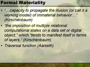 Formal materiality