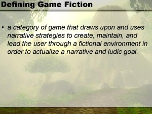 Defining Game Fiction