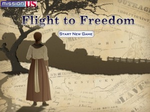 Screen capture of Mission US Flight to Freedom