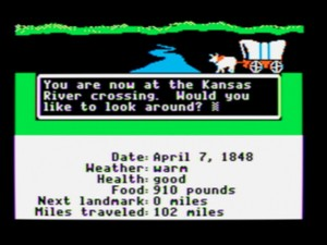 Screen capture of the game Oregon Trail