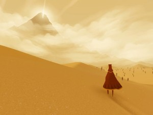 Screen capture of the game Journey